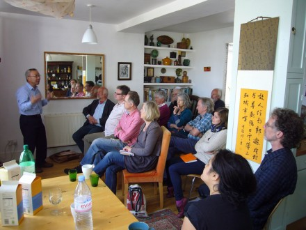 Professor Wu Fusheng in action at Glasfryn