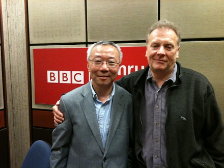 Wu Fu-Sheng and Graham Hartill in BBC Swansea studio.